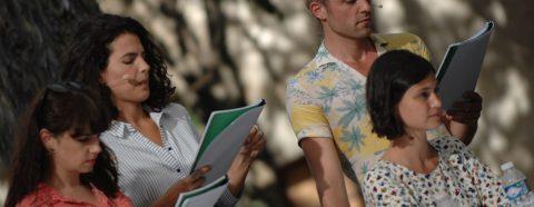 Katell Daunis, Brune Renault, Julien Derivaz et Lucie Boujenah - Talents Adami Ecrits d'acteurs - 2017 © Vincent Marin