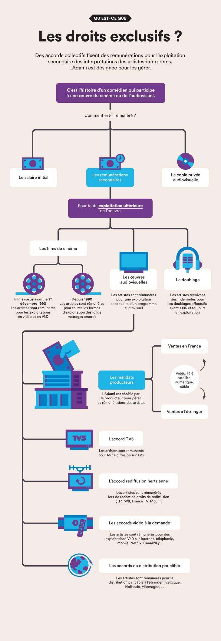 Infographie Les droits exclusifs