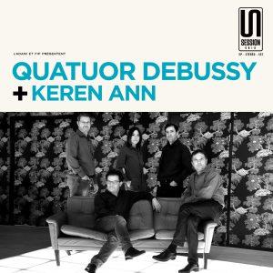 Pochette Quatuor Debussy et Keren Ann Session Unik 2018 © Radio France / Christophe Abramowitz